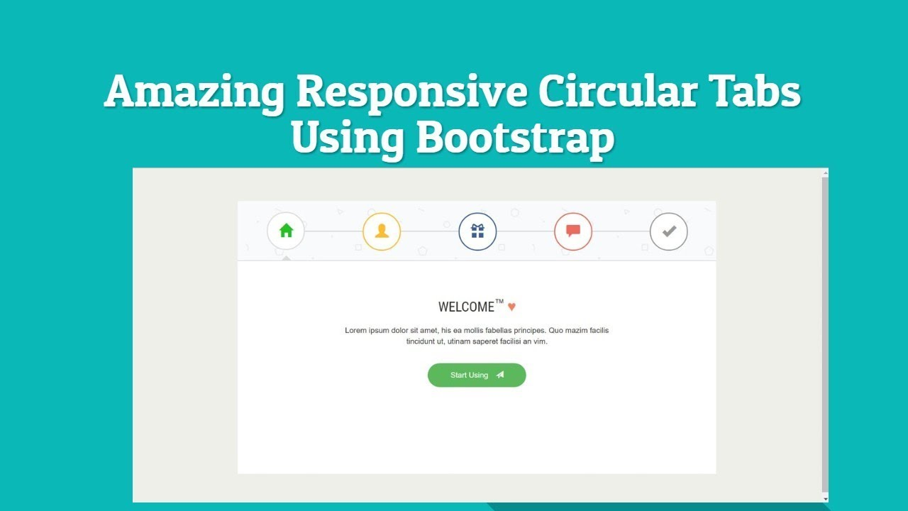 Amazing Responsive Circular Tabs Using Bootstrap