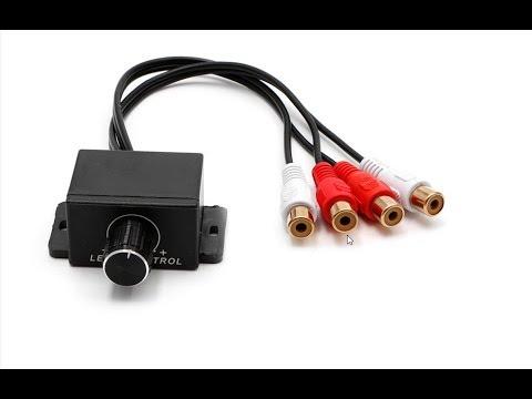 Remote Amplifier Level Controller Volume Adjustment Knob RCA Subwoofer Car Audio