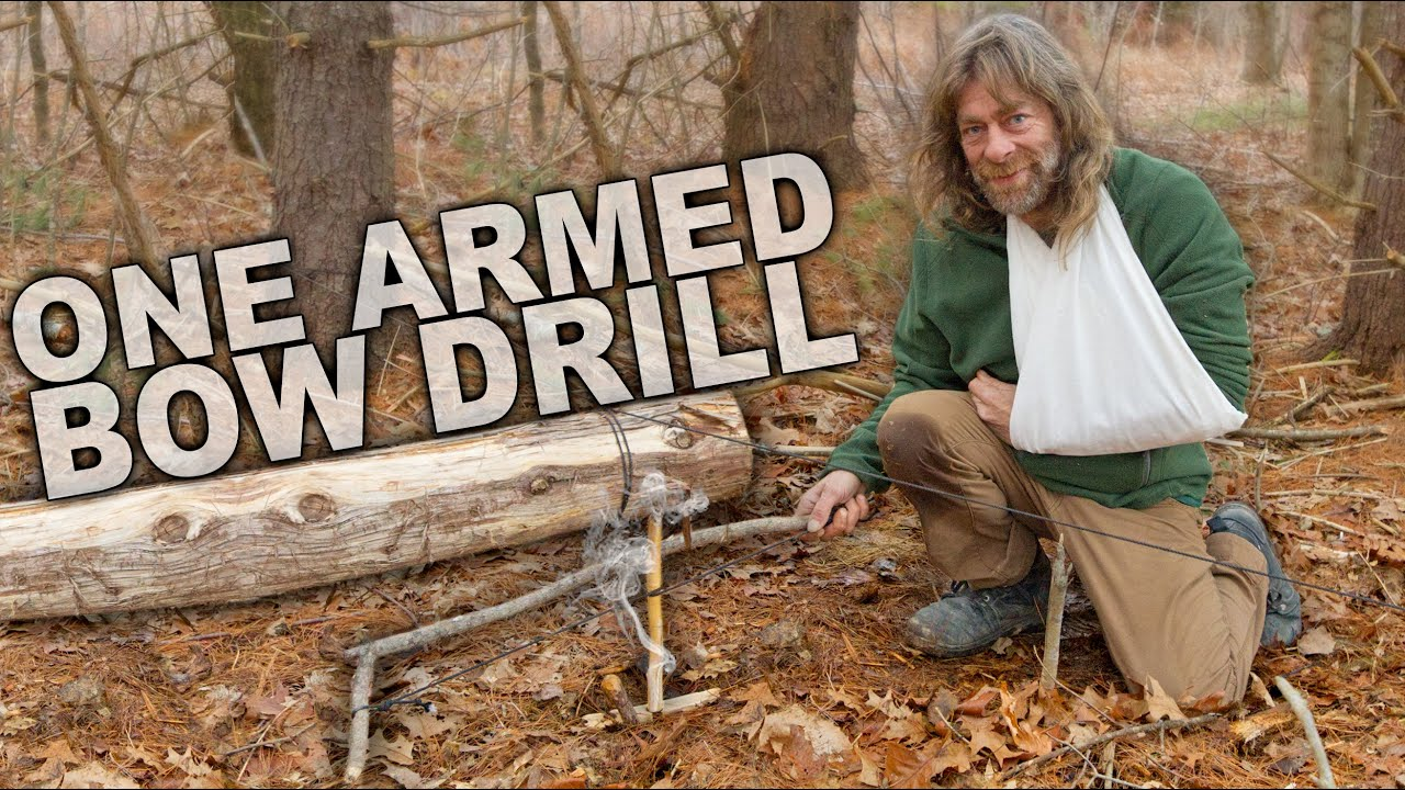 One Armed Bow Drill Fire