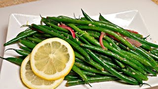 GARLIC GREEN BEANS RECIPE | How To Make Green Beans | Holiday Sides Recipe