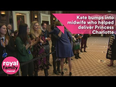 Kate bumps into midwife who helped deliver Princess Charlotte