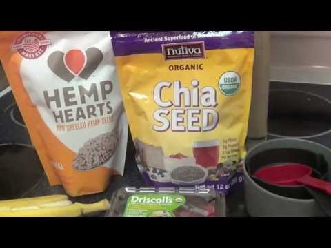 Chia & Hemp seed smoothie Recipe!