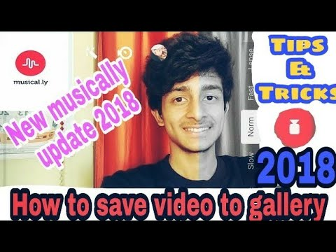 How to save video in gallery in musically tik tok app in hindi | tips trick android |