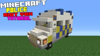 Minecraft Tutorial: How To Make A Police Riot Van