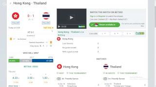 Hong Kong - Thailand (LIVE)