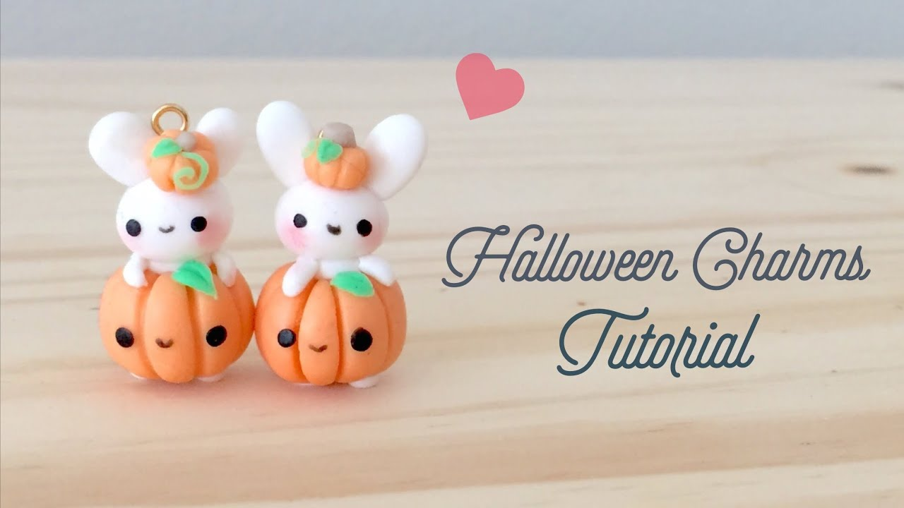 Diy Halloween Bunny Kawaii Polymer Clay Tutorial Youtube