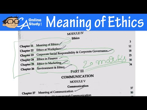 Meaning Of Ethics Lecture In Hindi Ethics And Communication Ipcc Youtube