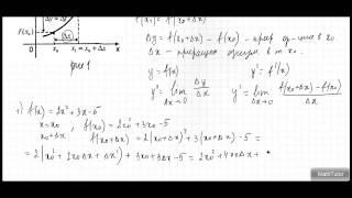 Алгебра 10-11 классы. 46. Приращение функции. Понятие производной