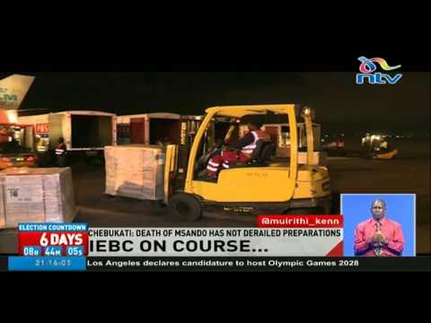 The death of Chris Msando has not derailed IEBC preparedness - Chebukati