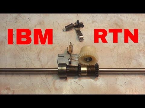IBM Selectric Typewriter Carriage Return Repair, Lock Nut Method, 1, 2, 3 I II III Fix Also SR 101