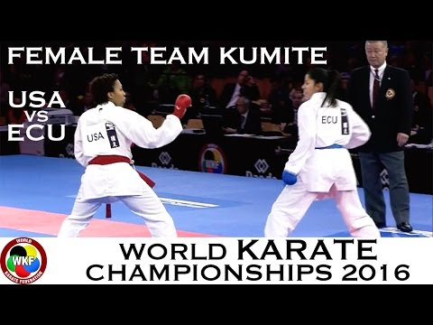 BRONZE. (2/3) Female Team Kumite USA vs ECU. 2016 World Karate Championships