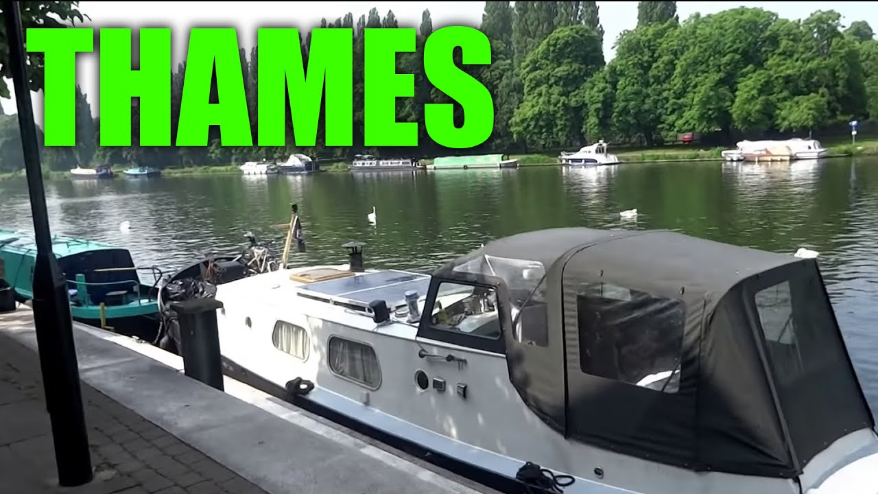Places To Live In The UK - Houseboat/Narrowboat On The River Thames (  London & South England )