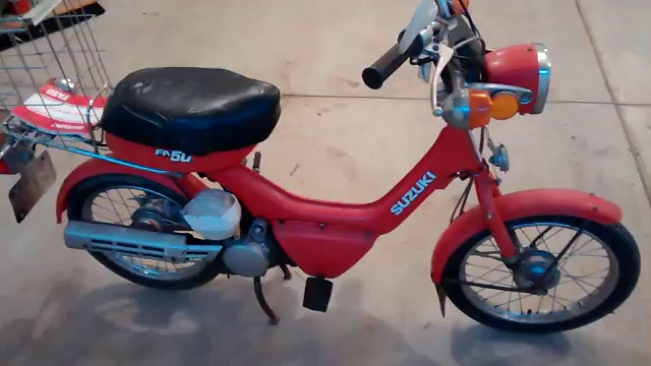 1983 suzuki fa50 moped youtube rh youtube com Honda Moped Moped with Pedals Bicycles