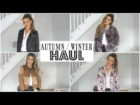AUTUMN WINTER TRY ON HAUL 2017 coats and jackets (ZARA PRIMARK ASOS NEWLOOK MANGO TOPSHOP)