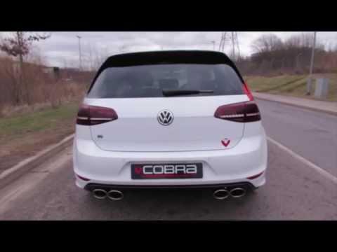 VW Golf R MK7 Cat Back (Resonated) Performance Exhaust by Cobra Sport