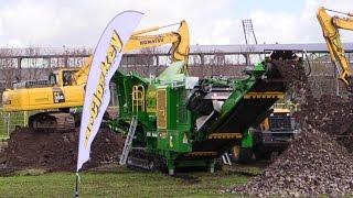 mccloskey j40 jaw crusher and komatsu pc350 excavator demo e 15