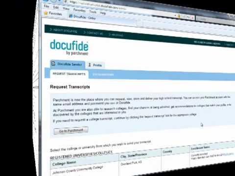 transcript docufide