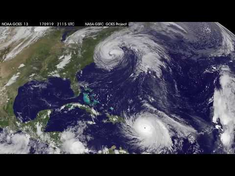 Satellite Animation Shows Hurricane Maria Make Landfall in Puerto Rico, Jose Along East Coast