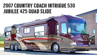 2007 Country Coach Intrigue 530 Jubilee A Class Tag Axle Quad Slide 525HP Diesel Pusher  $167,900