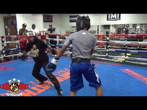 MAYWEATHER SPAR WARS: MY SON REMESES VS FLOYD MAYWEATHER SR KID (SPARRING)