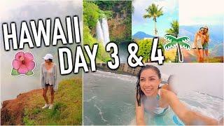 HAWAII - Amazing Waterfall, Surfing, & Karaoke! Day 3 & 4!
