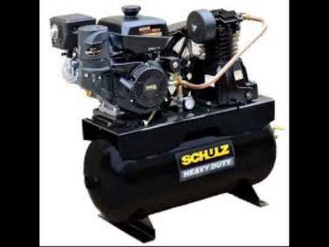 30 gallon 14 hp gas drive air compressor kohler engine -