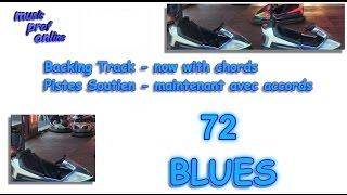 Guitar Backing Track 72 (Piste Soutien) - Blues G major (majeur)
