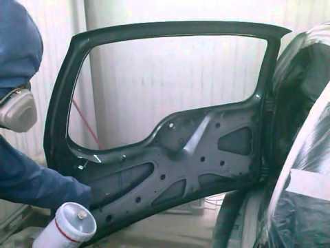 Шевроле Нива замена и покраска двери багажника