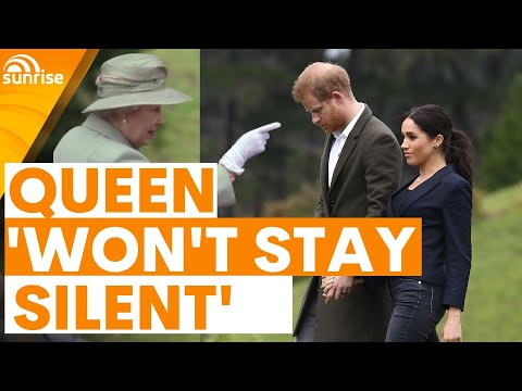 The Queen 'won't stay silent' and calls out Harry and Meghan's 'untruths'   Sunrise
