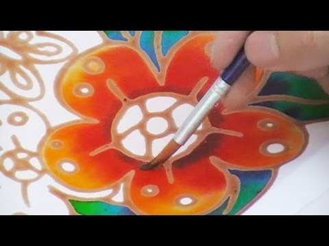 Batik Painting How To Paint Batik Simple And Quick Youtube