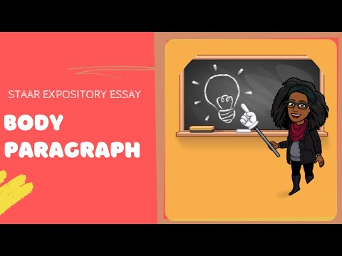 writing an expository essay body paragraph staar edition  writing an expository essay body paragraph staar edition