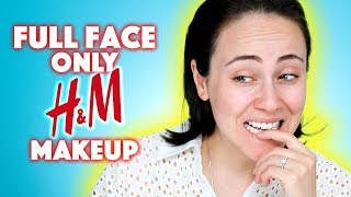 Full Face Using Only H&M Makeup 👕👗 | First Impression H&M Beauty Review | deutsch | Hatice Schmidt