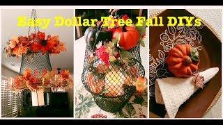2 Easy Dollar Tree DIY Farmhouse Fall Decorations (2018)
