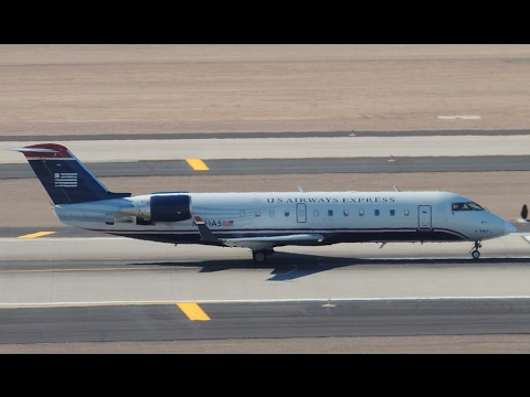 US Airways Express (SkyWest) Bombardier CRJ-200 [N821AS] takeoff from PHX