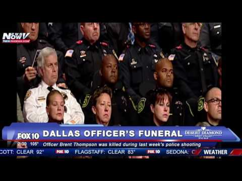 FNN: Funeral for Dallas Officer Brent Thompson, Killed in Dallas Police Shootings - FULL MEMORIAL