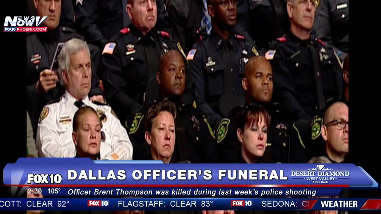 fnn funeral for dallas officer brent thompson killed in dallas police shootings full. Black Bedroom Furniture Sets. Home Design Ideas