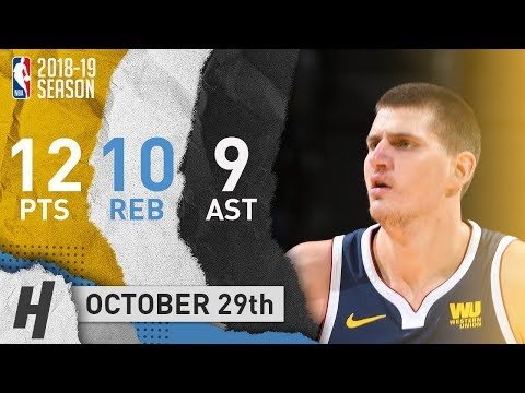 Nikola Jokic Full Highlights Nuggets vs Pelicans 2018.10.29 - 12 Pts, 10 Ast, 9 Rebounds!