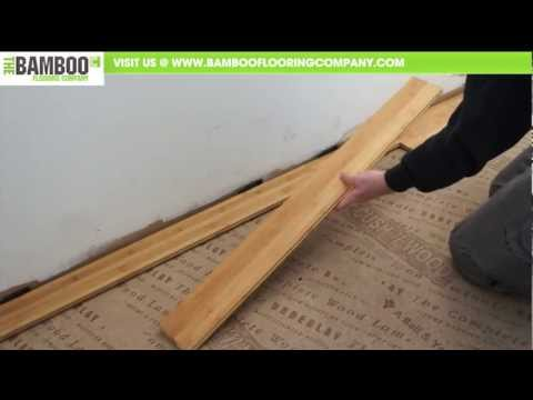 How To Install Bamboo Flooring Tongue Groove Over Underlay You