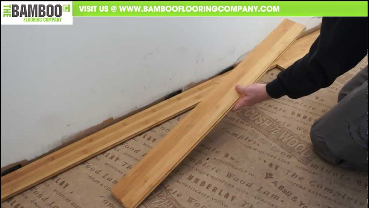 How to install bamboo flooring tongue groove over underlay how to install bamboo flooring tongue groove over underlay youtube solutioingenieria