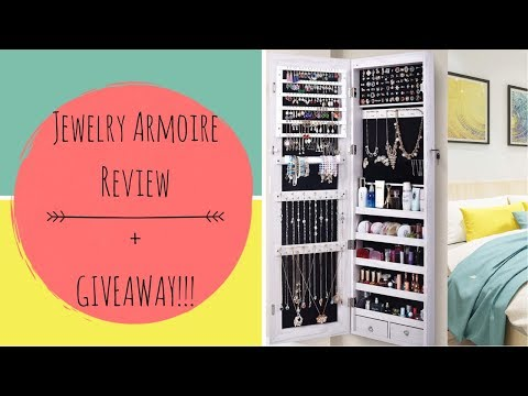 AMAZON Jewelry Armoire Review + GIVEAWAY! | AOOU Jewelry Organizer Cabinet {CLOSED}