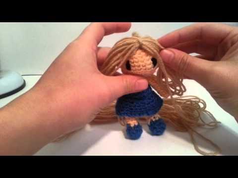 Tutorial Muneca Amigurumi : Tutorial pelo amigurumi muneca - YouTube