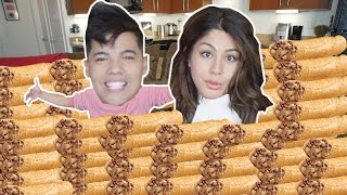 200 Taquitos In 10 Min Challenge! (ft. MEGAN BATOON)