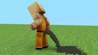 Surprise Poop (Minecraft Animation)