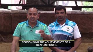 Deaf and Mute Indian wrestler Virender Singh receives Arjuna Award