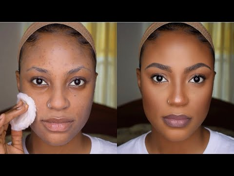 natural makeup tutorial for woc  using affordable