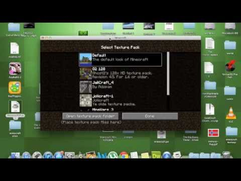how to put texture packs on minecraft mac: x ray pack - YouTube