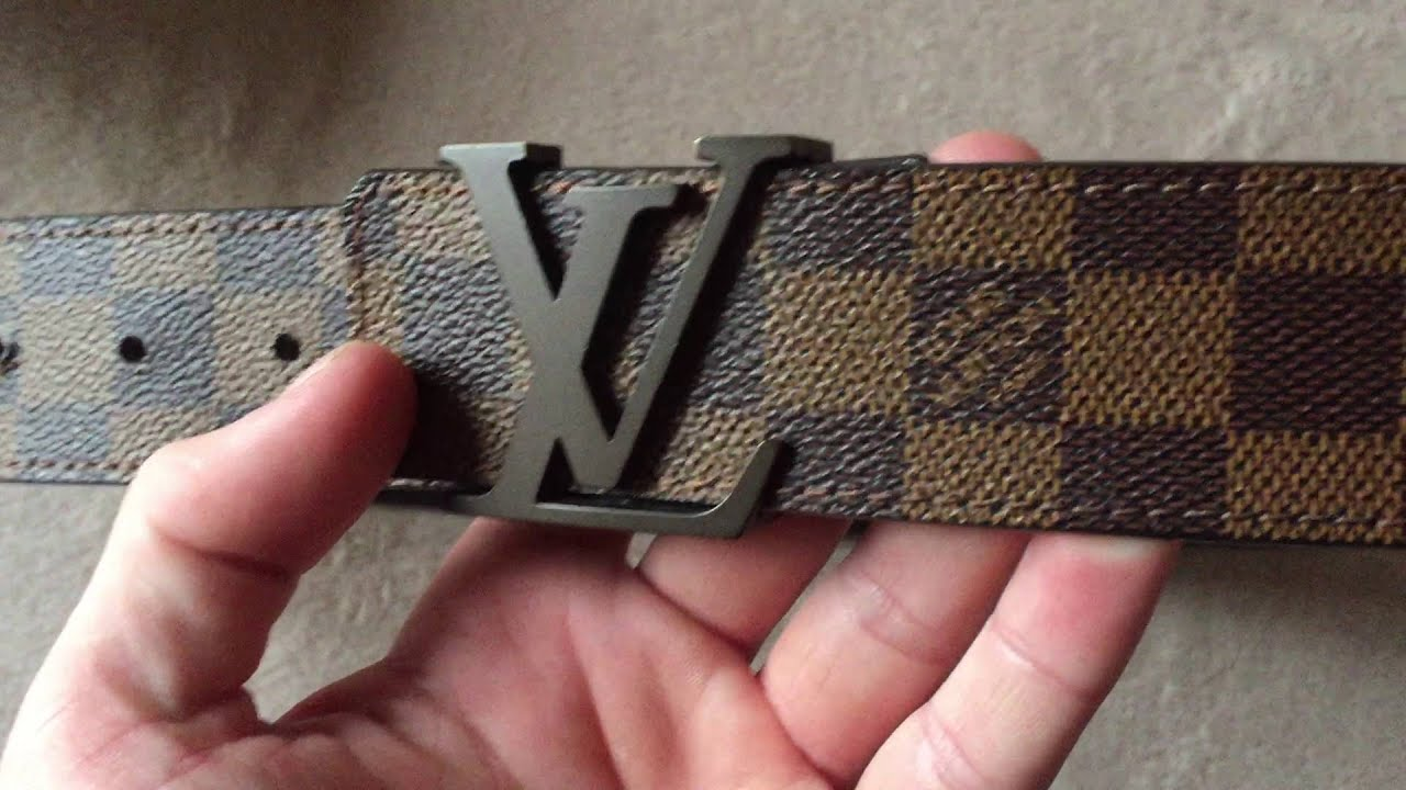 839e06c972be Louis Vuitton Damier Ebene Belt Review - YouTube