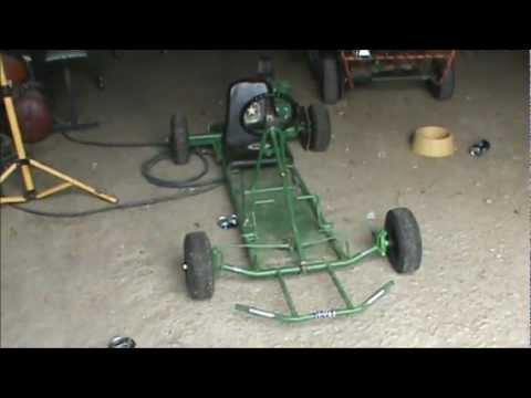 racing gocart kart frame with old motor for sale youtube