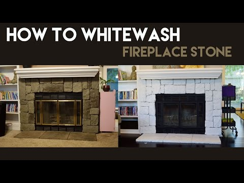 How to Whitewash Fireplace Stone