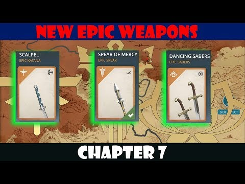 Shadow Fight 3: All New EPIC Weapons In Chapter 7 √